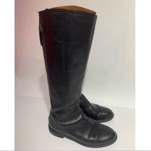 Madewell Sydney tall leather back zipper boots 7.5